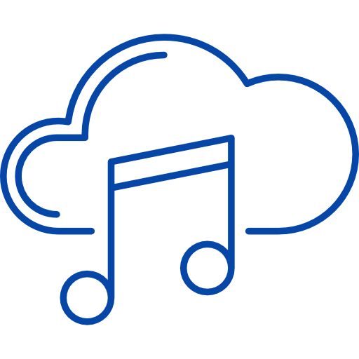 This image is that of a music note and cloud put together. Showing our loops and samples are completely online. A flaticon image, by Freepik.